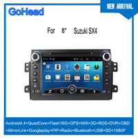 For Suzuki SX4 USB 3g Wifi GPS DVD Radio FM Bluetooth Android 4.4 Car Mp3 Player