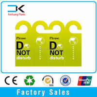 Plastic PP disturb hotel door hanger white board