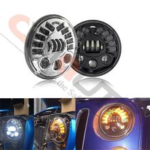 7 Inch Round LED Headlight Conversion Kit DLR Light Assembly For JEEP JK TJ FJ Hummer Motorcycle Headlight