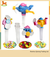 Wholesale market Dolphin manual operation fan sweet candy toy from online shopping alibaba
