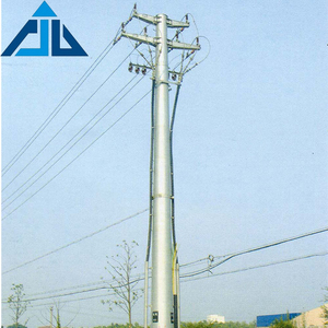Base station type tubular galvanized steel 132kv power tower transmission system