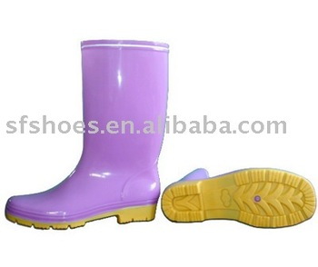 candy color PVC/NITILE RUBBER BOOT for women