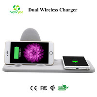 (A40) Qi Dual Position Wireless Charger For Samsung Galaxy S6 and For iPhone 6 plus, iPhone 7, Huawei Mate 8, P9 Plus