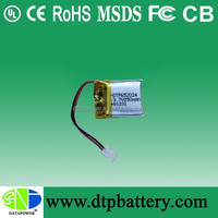 Data Power small size rechargeable 3.7v 150mah lipo battery with PCM