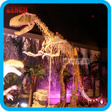 Museum Customized Artificial Simulation Big Dinosaur Golden Skeleton