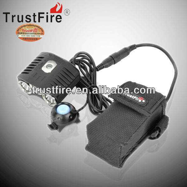 trustfire original factory cree xml t6 led 2100lm D009 bicycle front light strip light +battery pack+charger+gift box