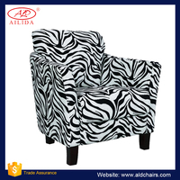 AC-125 Zebra And Leopard Sexy Accent Chair Tub Chair With Low Price