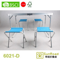 1.2m tables and chairs retractable picnic table