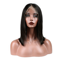 Cheap import virgin brazilian human hair bundles straight lace front wig with baby hairs