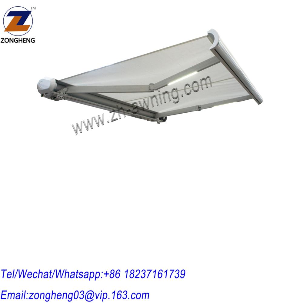 Motorized modern rooftop waterproof retractable awning UV protection