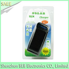 !!!Hot selling 1000mah micro usb keychain solar battery charger