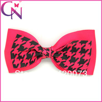 4.5 inch Double Layers Patterned Ribbon Hair Bow for School Girls