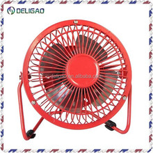 "hot selling 4"" and 6""oscillating type low price good qualityportable TABLE METAL recgargeable USB Mini Fan"