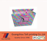 luxurious gift paper bag with ribbon handle