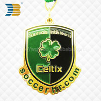 High quality cheap gold plated olympic 3d running sports custom metal medal hanger with ribbon