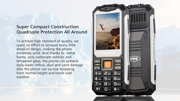 Rugged Phone VKWORLD V3S 2.4 inch Cell Phone Keyboard Physical Keyboard 2200mAh Big Battery New Cell Phone Mobile