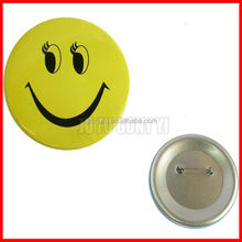 cute tin round shaped emoji tin button badge