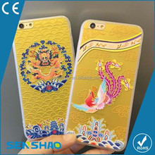 China wholesale cheap price lovely dragon Design pattern tpu+pc cell phone case for iphone6,OEM Custom