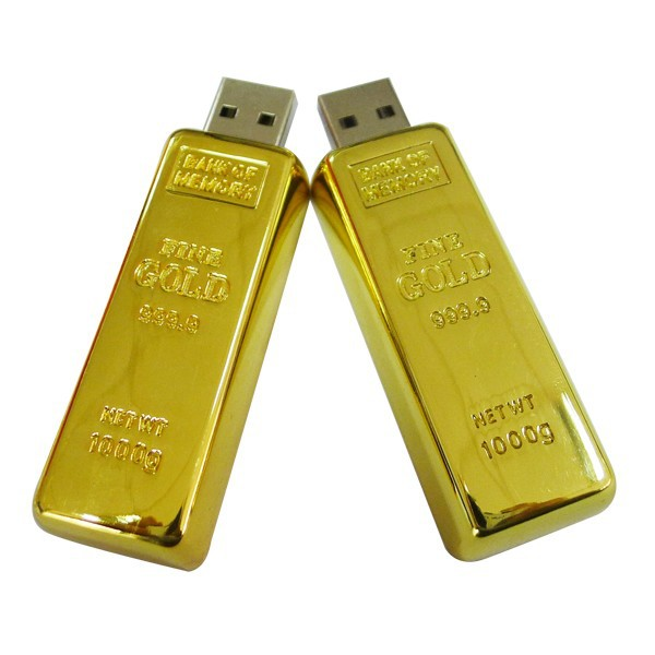 Newest design golden usb flash drive pen drive 8GB 16GB Gold Bar USB 2.0 Flash memory golden pen drive