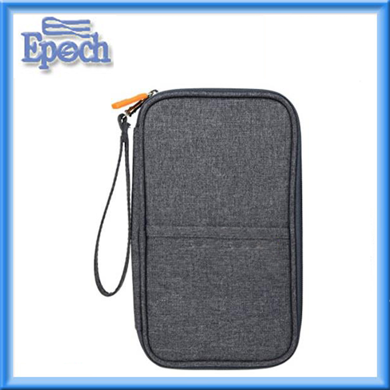 Travel passport wallet Credit card wallet organizer with hand strap Multi pockets travel wallet