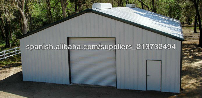 Garajes y cobertizos met licos imagen casas prefabricadas for Cobertizos prefabricados metalicos