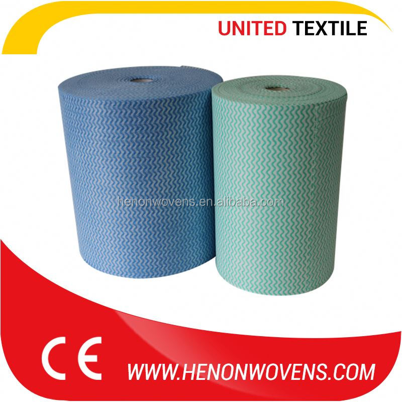 Abundant Stock Disposable Colored Spunlace Printed Non Woven Cloth Fabric