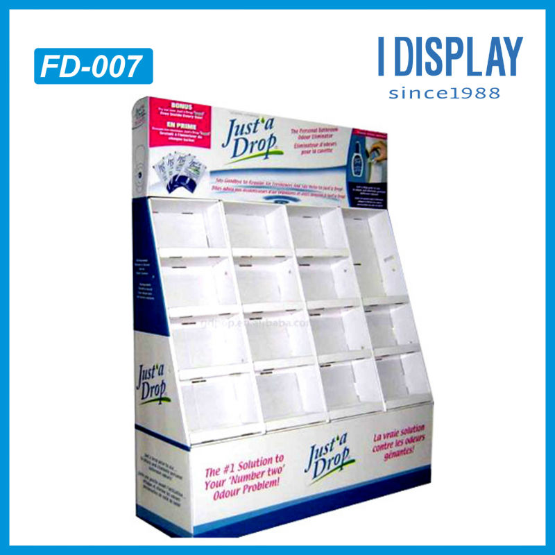 corrugated board floor stand pocket display for eye drop