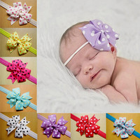 Polka Dot Baby Girls Bow Bowknot Toddler Hairbands Infant Hair Accessories Headband for baby