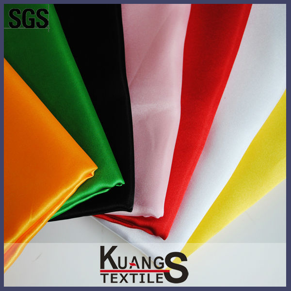 100% polyester shiny satin fabric/shiny stretch satin fabric/ satin fabric