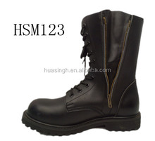 high-grip rubber sole safety special force military boots with two side zipper