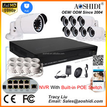 nvr poe 8ch security video surveillance systems ip camera cctv