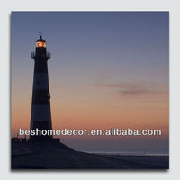 lighthouse stretched canvas with LED, canvas picture with led light