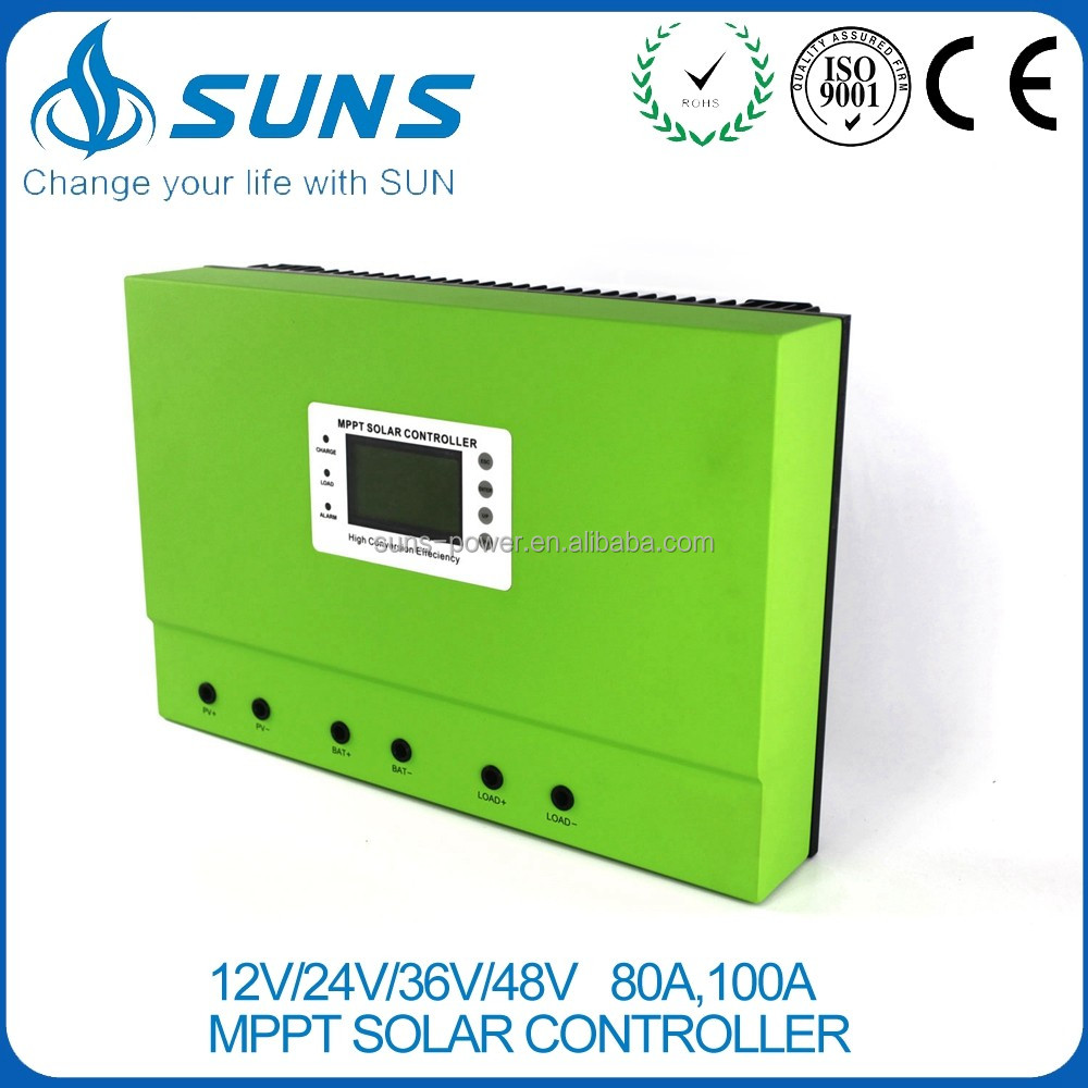 Intelligent system dc 12v 24v 36v 48v 100a pwm smart battery charging pv inverter smart solar charge controller for home