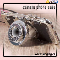 3D Creative Stereoscopic Camera Shaped Mirror Holder Phone Case Cover For iPhone 6 6Plus