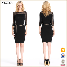 Sexy Night Dress for Ladies Mesh Hollow Out Design Pencil Dresses China Wholesale Clothing