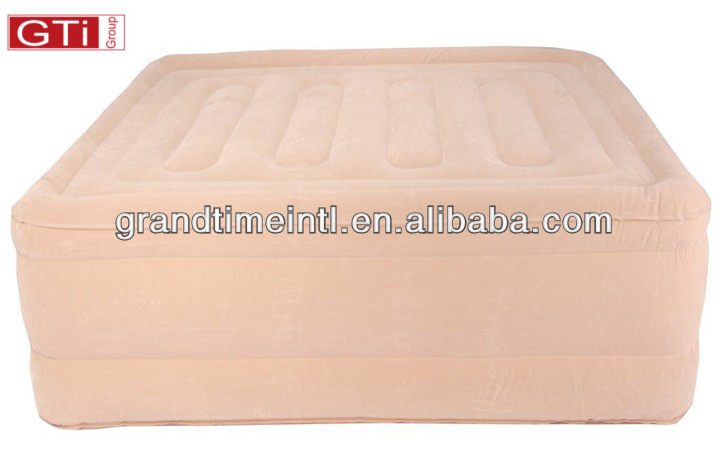 Flocked Top & Side Raised Queen Air Bed