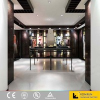 Customized Clothing Retail Fixtures,Wooden Garment Store Furniture,Boutique Interior Design in Display Cases