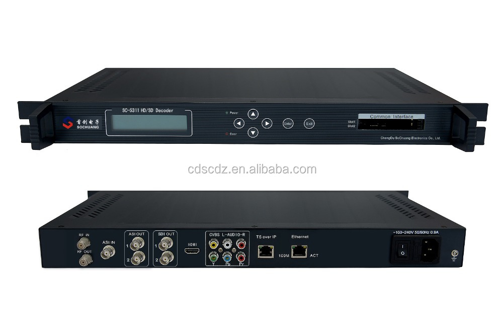 SC-5311 UDP/IP DVB-T2 Decoder/Satellite Receiver