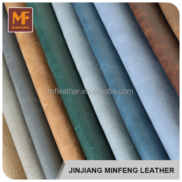 Embossed pattern low price eco friendly pu wholesale bulk leather