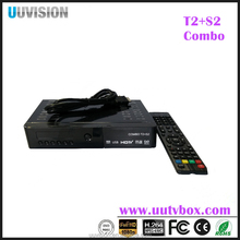 UUVISION Afria style HD DVB T2+S2 combo TV receiver SUPPORT WIFI/3G/CCAM/IKS/POWERVU AUTO ROLL/YOUTUBE