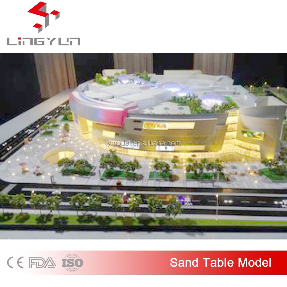 3d villa design architectural drawing/sand table model with lighting system