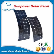 Custom size 100W waterproof Marine Semi Flexible Solar Panel for Australian market