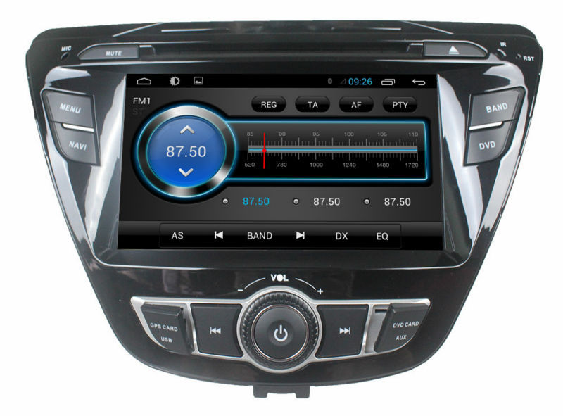 Quad core pure android 4.4 hyundai elantra 2014 car stereo with gps 3g wifi android mirror link!