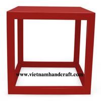 Eco-friendly hand lacquered vietnamese red lacquered bamboo telephone tables