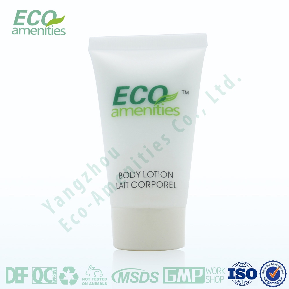White body lotion cream with biodegradable corn starch tube