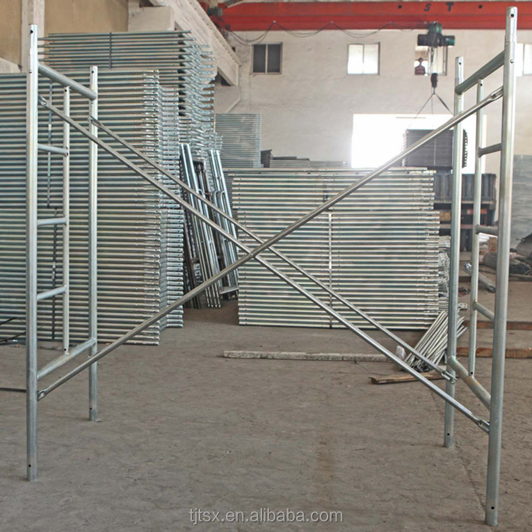 TSX-HF2200 Types of Steel Construction System High Quality H Walkthrough Bracket Frame Scaffolding