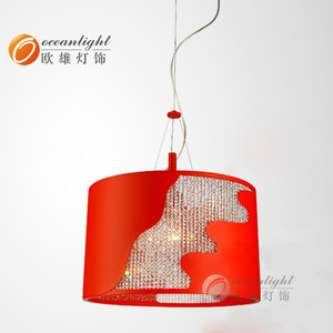 powerful Red lighting fixture,plastic ceiling lamp Om77044