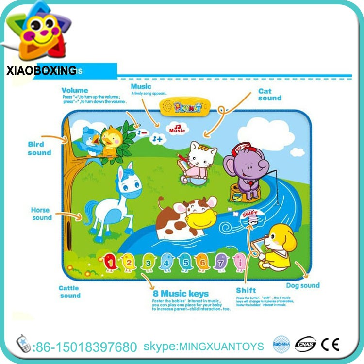 Hot selling gift electric animal keyboard babies floor game mat for sale
