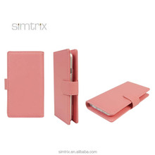 Movable Folio PU customized ladies mobile phone stand case with card holders