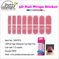 Nail Beauty Supplier Pretty Woman Nail Art Stickers 16pcs 3D Nail Wraps in PET Box Package